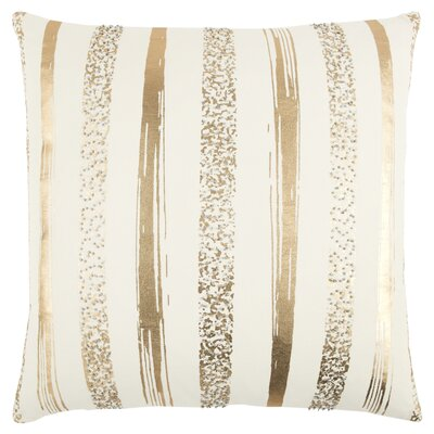 Cataldo Decorative 100% Cotton Throw Pillow Color: Ivory/Brown