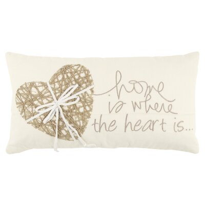 Regency Decorative 100% Cotton Lumbar Pillow Color: Ivory