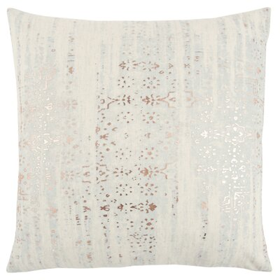 Ahlat Decorative 100% Cotton Throw Pillow Color: White