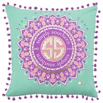 Seales Decorative 100% Cotton Throw Pillow