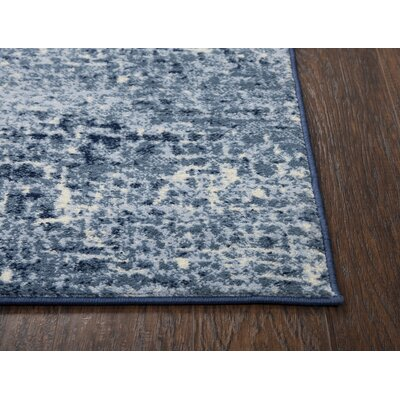 Lanette Blue Area Rug Rug Size: Rectangle 8 x 10