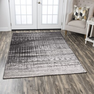 Lanette Gray Area Rug Rug Size: Rectangle 52 x 73