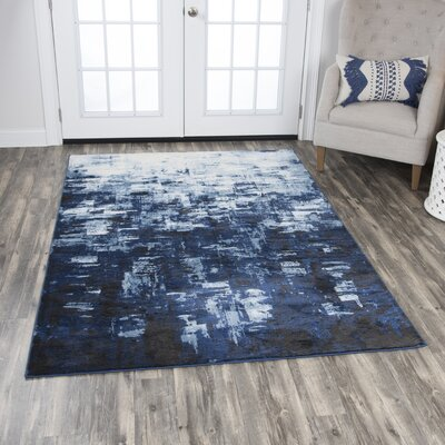 Lanette Blue Area Rug Rug Size: Rectangle 52 x 73