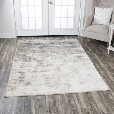 Lanette Beige/Gray Area Rug Rug Size: Rectangle 52 x 73