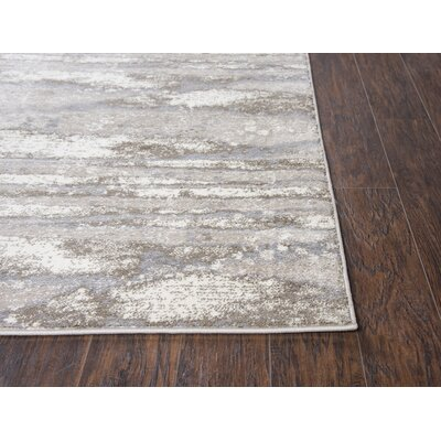 Lanette Beige/Gray Area Rug Rug Size: Rectangle 8 x 10