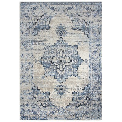Lanette Blue/Gray Area Rug Rug Size: Rectangle 8 x 10