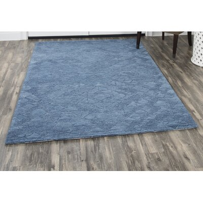 Phan Hand-Tufted Wool Blue Area Rug Rug Size: Rectangle�5 x 8