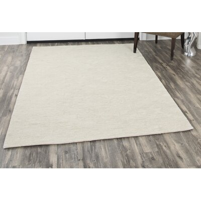 Phan Hand-Tufted Wool Beige Area Rug Rug Size: Rectangle 5 x 8