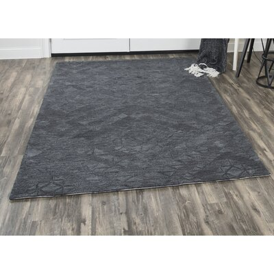 Phan Hand-Tufted Wool Dark Gray Area Rug Rug Size: Rectangle�5 x 8