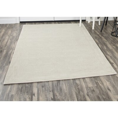Phan Hand-Tufted Wool Beige Area Rug Rug Size: Rectangle�5 x 8