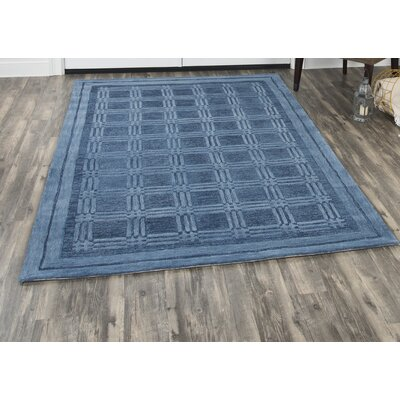 Phan Hand-Tufted Wool Blue Area Rug Rug Size: Rectangle�8' x 10'