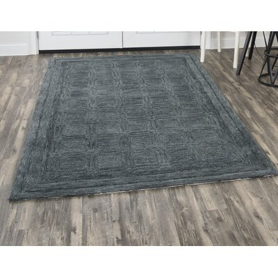 Phan Hand-Tufted Wool Dark Gray Area Rug Rug Size: Rectangle�9' x 12'