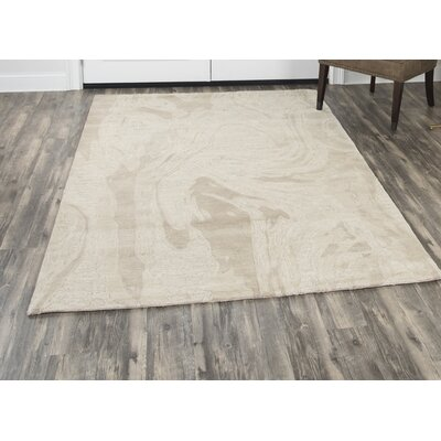 Phan Hand-Tufted Wool Beige Area Rug Rug Size: Rectangle�10 x 13