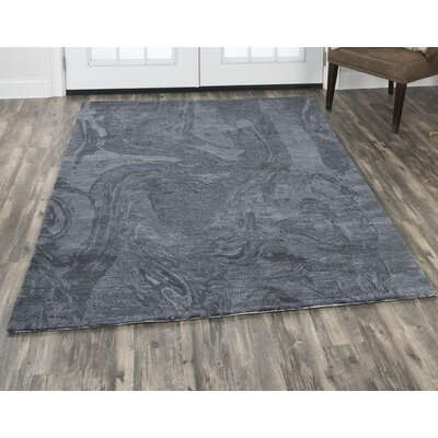 Phan Hand Tufted Wool Dark Gray Area Rug Rug Size: Rectangle�5 x 8