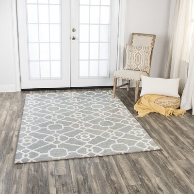 Genny Hand-Tufted Wool Gray Area Rug Rug Size: 8 x 10