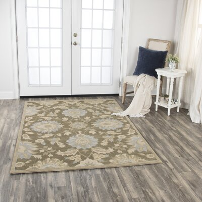 Genny Hand-Tufted Wool Brown Area Rug Rug Size: 5 x 7