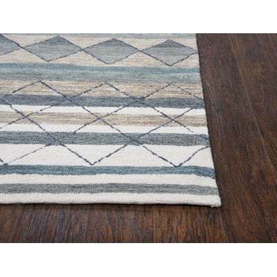 Broadlands Hand-Tufted Wool Gray Area Rug Rug Size: 5 x 7