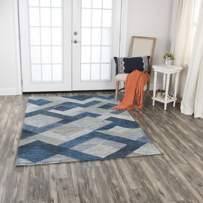 Prochaska Hand-Tufted Wool Blue/Gray Area Rug Rug Size: 8 x 10