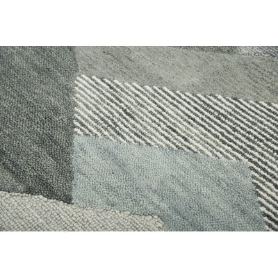 Prochaska Hand-Tufted Wool Gray Area Rug Rug Size: 5 x 7