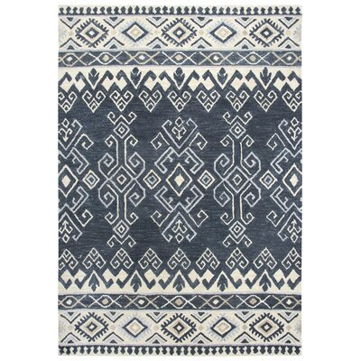 Lissie Hand-Tufted Wool Denim Area Rug Rug Size: 5 x 7