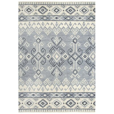 Pittard Hand-Tufted Wool Gray Area Rug Rug Size: 8 x 10
