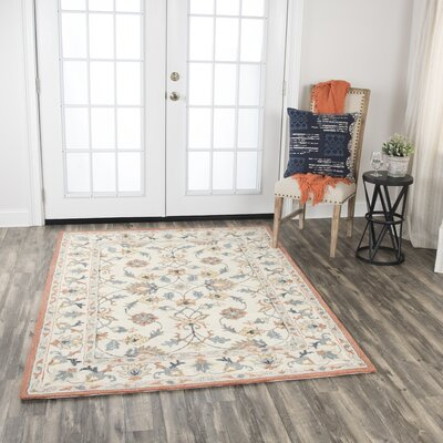 Audwin Hand-Tufted Wool Beige Area Rug Rug Size: 8 x 10
