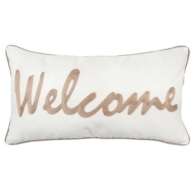 Wellcome 100% Cotton Throw Pillow Color: Light Brown