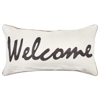 Wellcome 100% Cotton Throw Pillow Color: Dark Brown
