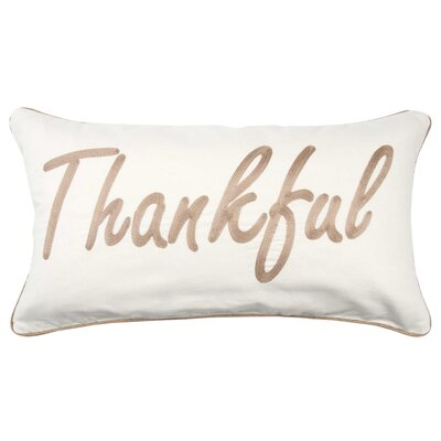 Holiday Thankful 100% Cotton Throw Pillow Color: Light Brown