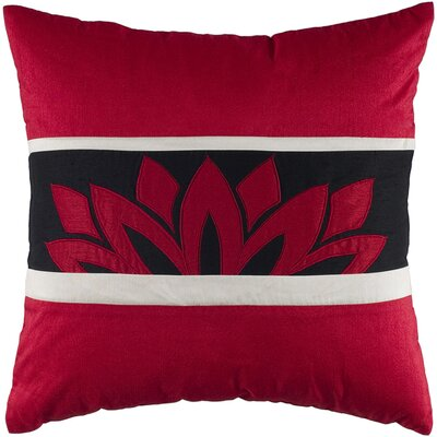 Decorative Throw Pillow Size: 18 x 18, Color: Red / Black