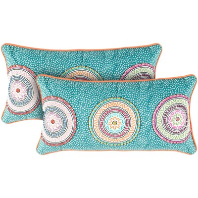 Teal and Orange Decorative Pillow
