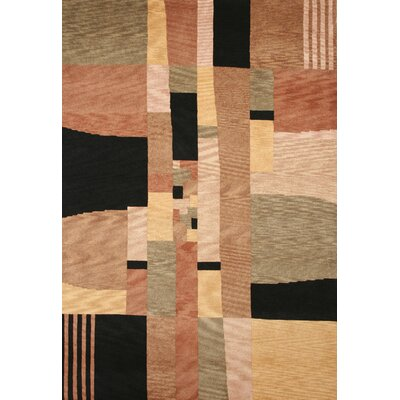 Tango Black/Beige Bubblerary Rug Rug Size: Rectangle 9 x 12