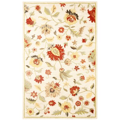 Dimension Hand-Tufted Wool Ivory Multi Bubblerary Rug Rug Size: 5 x 8