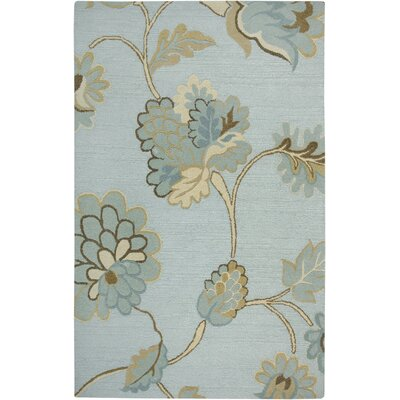 Dimension Hand-Tufted Wool Light Blue Area Rug Rug Size: 5 x 8