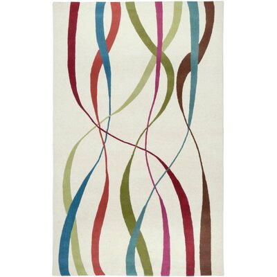 Messina Hand-Tufted White Area Rug Rug Size: 5 x 8