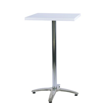 Duratop Bar Table Top Finish: Snow White, Table Size: 30 L x 30 W