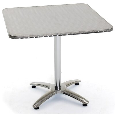 Stainless Steel Dining Table Table Size: 36 L x 36 W