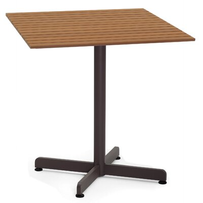 Bar Table Table Size: 24 L x 24 W, Base Finish: Taupe