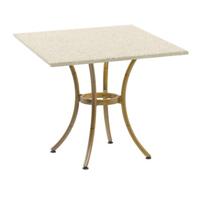 Duratop Dining Table Base Finish: Faux Teak, Table Size: 24 L x 24 W