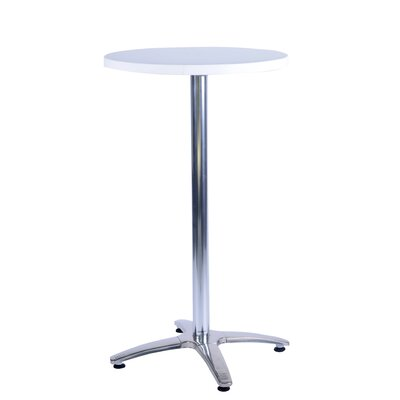 Duratop Bar Table Top Finish: Snow White, Table Size: 24 L x 24 W