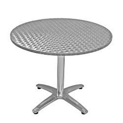 Stainless Steel Dining Table Table Size: 42 L x 32 W