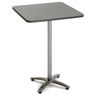 Stainless Steel Bar Table Table Size: 32 L x 32 W