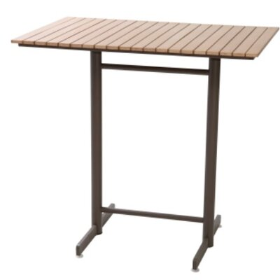 Bar Table Finish: Faux Teak/Taupe