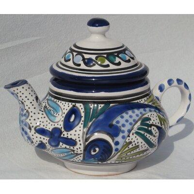 Le Souk Ceramique Aqua Fish Design Teapot