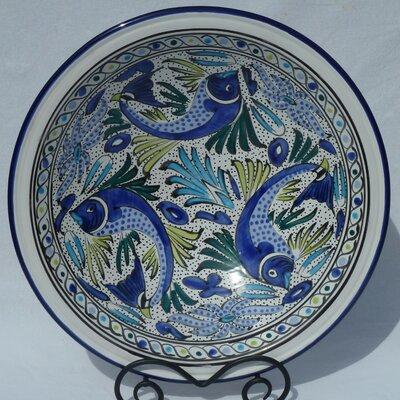 Le Souk Ceramique-aqua Fish Design Rectangular Platter