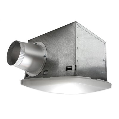 NuVent High Efficiency Bathroom Fan with Fluorescent Light