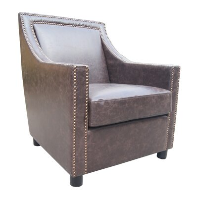 Conan Lounge Chair Upholstery Color: Brown