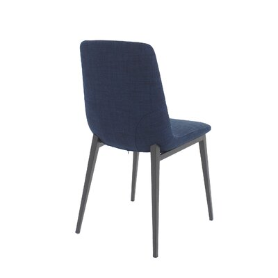 Nickolas Side Chair Upholstery: Blue