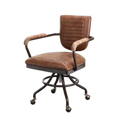 17 Stories Dubois Leather Desk Chair