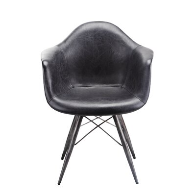 Kasandra Arm Chair Color: Black